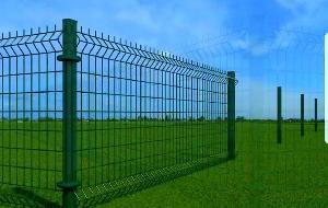 GALVANIZED FENCE PANELS WITH PVC